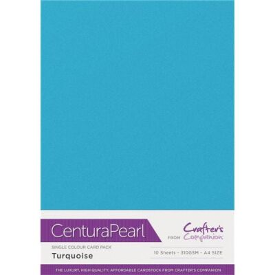 Crafter´s Companion Centura Pearl, A4, 310g, 10 Blatt, Farbe: Turquoise